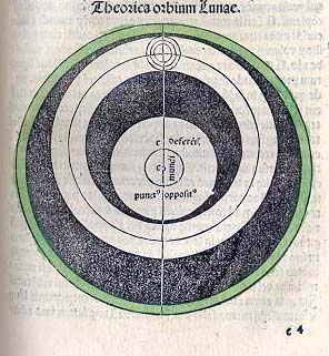Woodcut of the moon from a 15th century book on the calendar (our first book of the month: August 1999)
