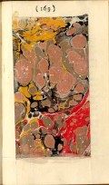 Marbled page from volume 3 of Tristram Shandy