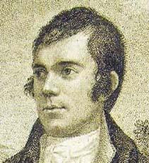 Engraving of Robert Burns