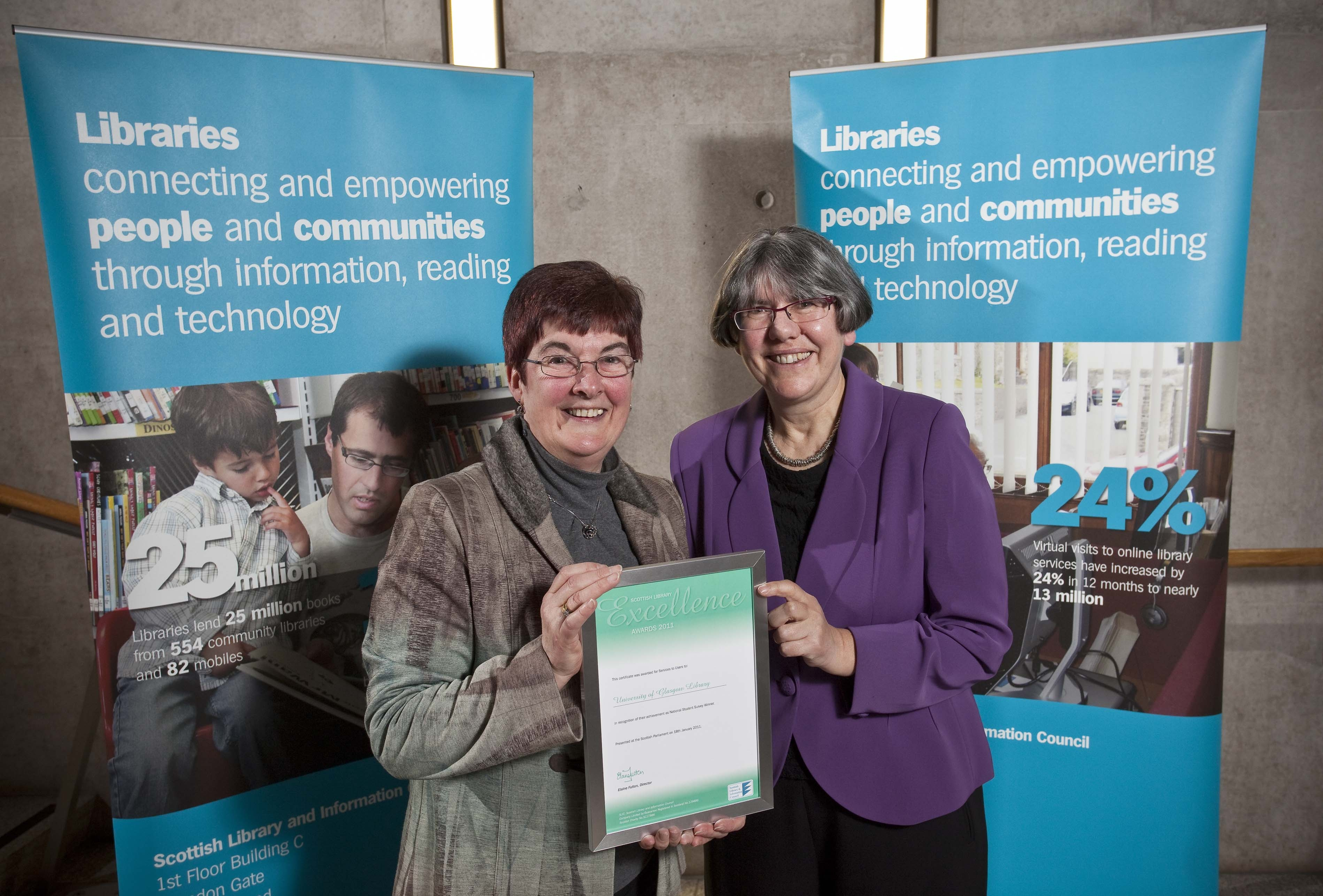 University of Glasgow Library receives Scottish Library Excellence Award