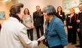 HRH Princess Anne greeting members of Library Staff
