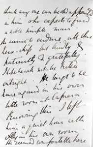 Letter from Emily Tennyson