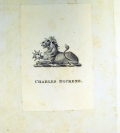 Book label of Charles Dickens in Sp Coll Gemmell 34
