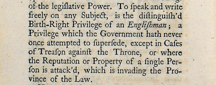 A short and modest vindication of the common practice of cursing and swearing. (Sp Coll BE6-d.19). Detail from page 4.