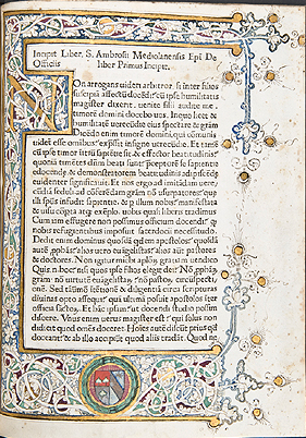 Decorated opening page