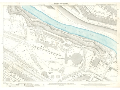 Image of Town Plan of Glasgow sheet showing the Royal Botanic Gardens
