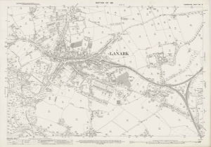 Ordnance Survey 25 inch Series Lanark 1911
