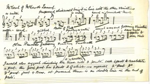 Handwritten tune pinned to a letter from P. Henderson (DC80/359)