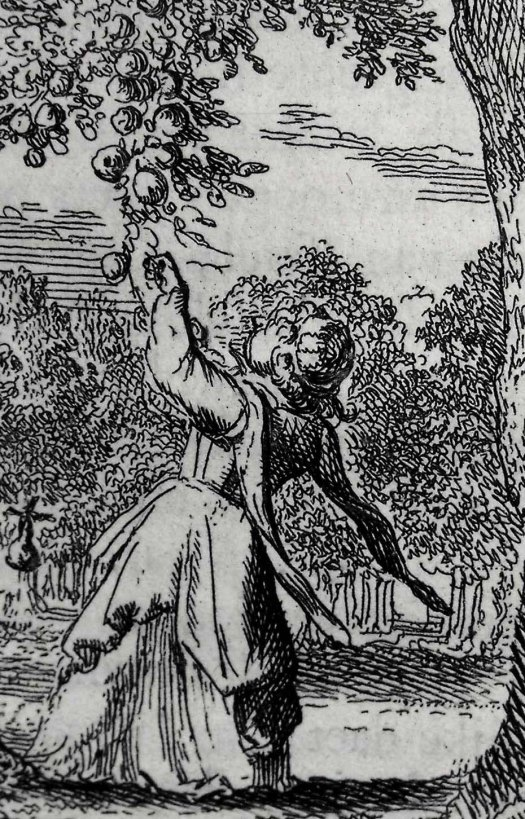 Detail from a Romeyn de Hooghe etching from Frans van Hoogstraten's 1668 'Het voorhof der ziele' (Sp Coll S.M. 597)
