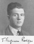 Thomas Ferguson Rodger during his years as a student at the University of Glasgow