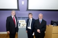 Mike Russell, MSP, Prof Anton Muscatelli, Principal, and Prof Dauvit Broun, Prof of Medieval Scottish History at the launch of the online database
