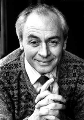 Black and white photograph of R D Laing.