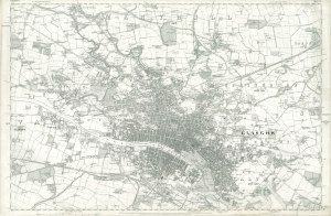 Ordnance Survey First Edition County Series Lanarkshire, Sheet 6 of Glasgow 1858