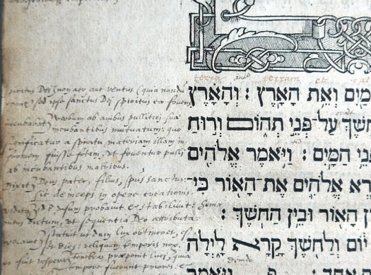 Detailed marginal comments in Melville's hand in a Hebrew Bible he previously owned (Sp Coll T.C.L. q13)