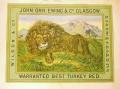 Image of a Lion on a bale bundle label