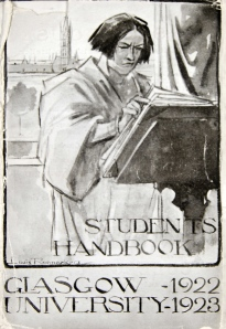 Cover of the SRC Student Handbook 1922/23 designed by Raemaekers (Ref DC157/18/32)