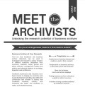 image of the meet the archivists poster