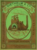 'Elephant Steamer' textile label for Diethelm & Co., United Turkey Red Co Ltd Collection (Glasgow University Archive Services, UGD 13/7A/8/2)