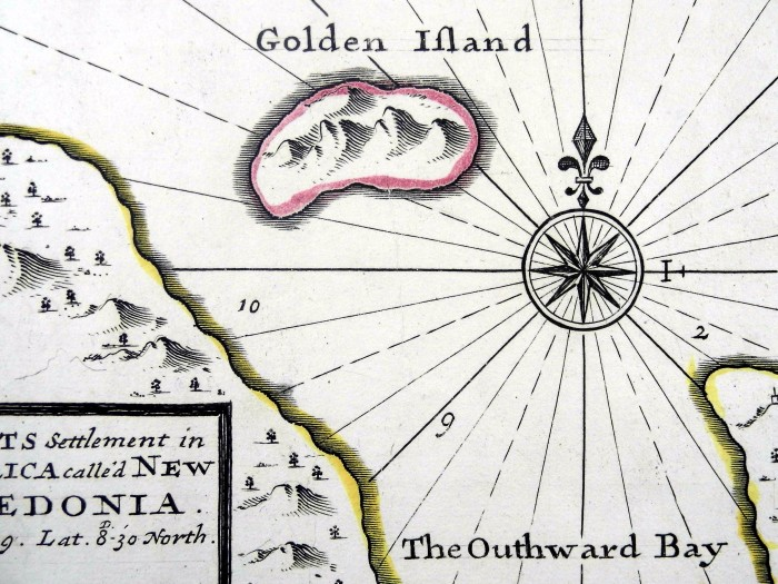 Detail from an engraved map of Scotland's colony on the Darien peninsula (Sp Coll Spencer f18)