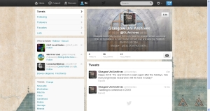 screenshot of GUAS twitter homepage