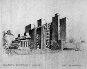 university library drawing showing 2nd phase