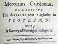 Headline and motto of the Mercurius Caledonius (Sp Coll BD1-c.54)