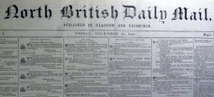 Masthead of the North British Daily Mail (Sp Coll Mu60-g.17)