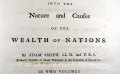 Titlepage to the first edition of Adam Smith's Wealth of Nations (Sp Coll RQ 3114-5)