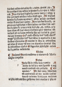 Ferguson's copy of the De Secretis