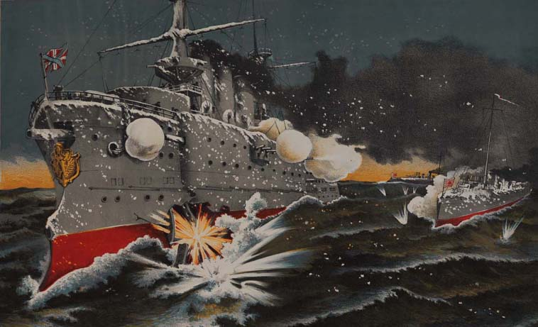 Japanese print of the Russo-Japanese War (1904) (Sp Coll e159)