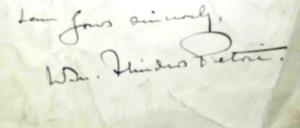 Signature of Sir Flinders Petrie