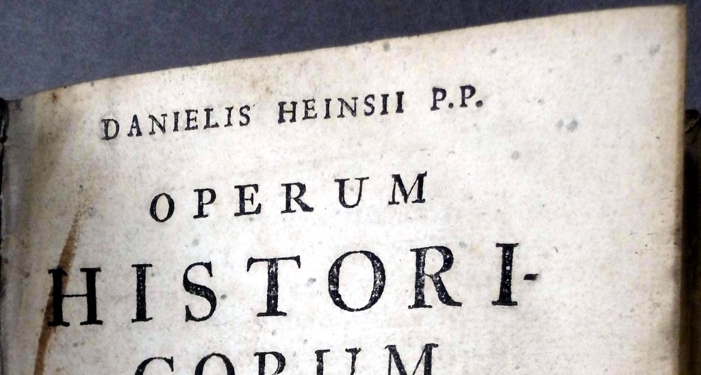 Detail from false titlepage of Spinoza's octavo Tractatus theologico-politicus (Sp Coll BC15-g.10)