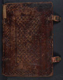 15th/16th century blind tooled binding
