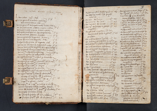 Early manuscript index