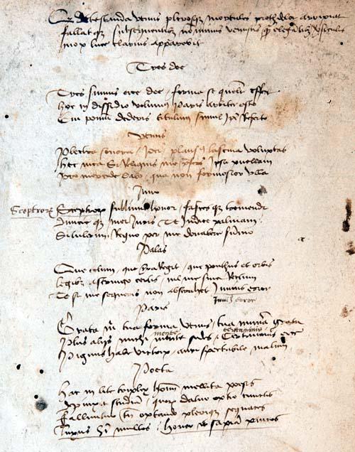Manuscript poem