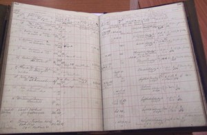 An example entry from a Wylie & Lochhead funeral order book