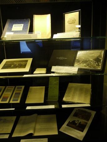 The exhibition case in Thurso Street reception area