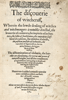 Title-page of the Discoverie of Witches (Sp Coll Ferguson Ag-d.47)
