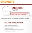 screen capture of endnote basic web page