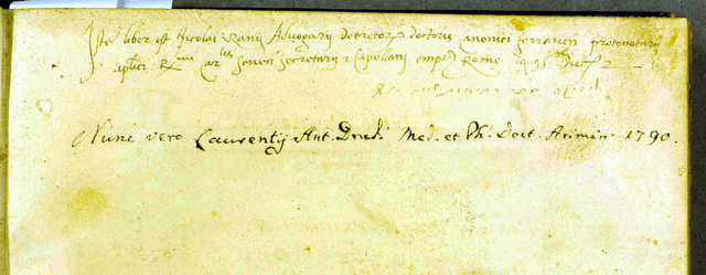 Ownership inscription of Drudi
