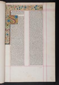 Incipit leaf of Albertus Magnus De animalibus (Mantua:  12 Jan. 1479) Sp Coll BD9-a.9