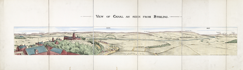 View of Mid Scotland Ship Canal as seen from Stirling, c.1917 (GUAS Ref: Accn 1775/1/17)
