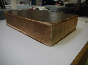 Image showing head and foredge of binding