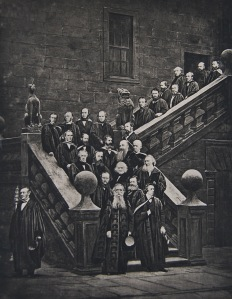 One of the earliest photographs depicting the Mace, late 19th century. Photograph from The University of Glasgow – Old and New, 1450 – 1891, ed. by William Stewart (Glasgow: T. & R. Annan & Sons and James Maclehose & Sons, 1891)