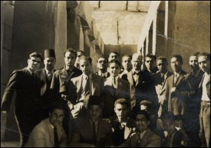 William Lamont with his class at Cairo University