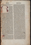 Opening page of 1492 edition with annotations in Latin