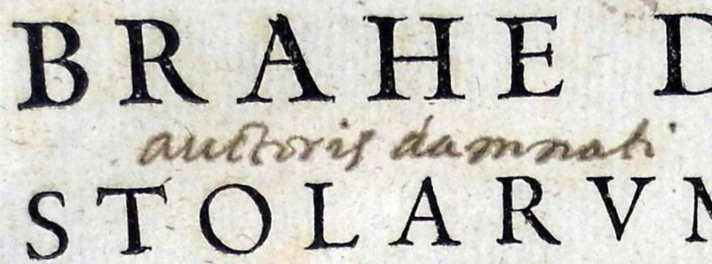 Detail from titlepage of Tycho Brahe (vol 1) (Sp coll Hunterian R.5.17-18)