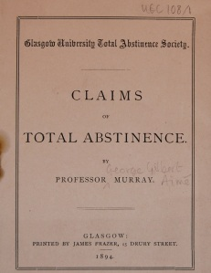 Claims for Total Abstinence - from the Temperance Society