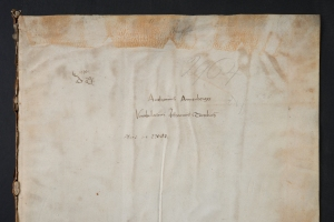 Annenberg inscription on vellum flyleaf (Sp Coll BD9-a.1)