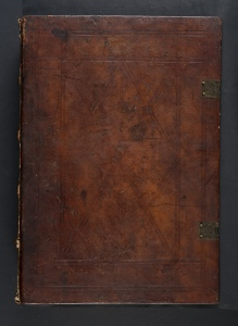 Binding of Tortellius;s Orthographia (Sp Coll BD9-a.1). Bound for Anton von Annenberg?